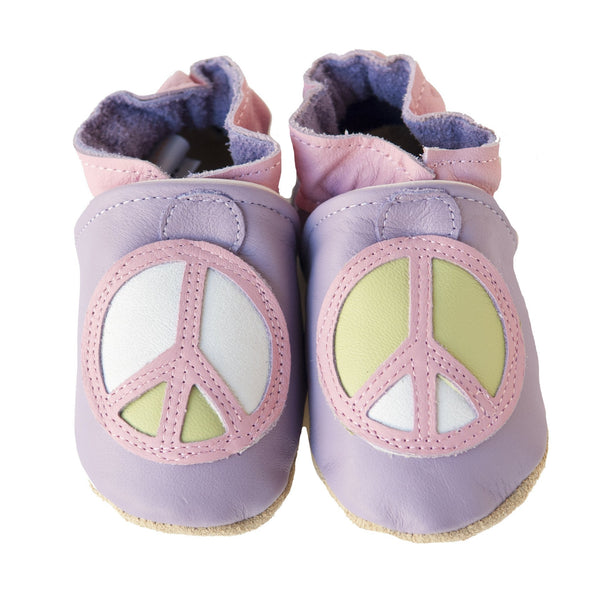 Peace Baby Gift Set (lavender and pink, with matching shoes, top, pant, hat)