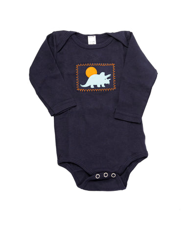 Dino Onesie (navy long-sleeve)