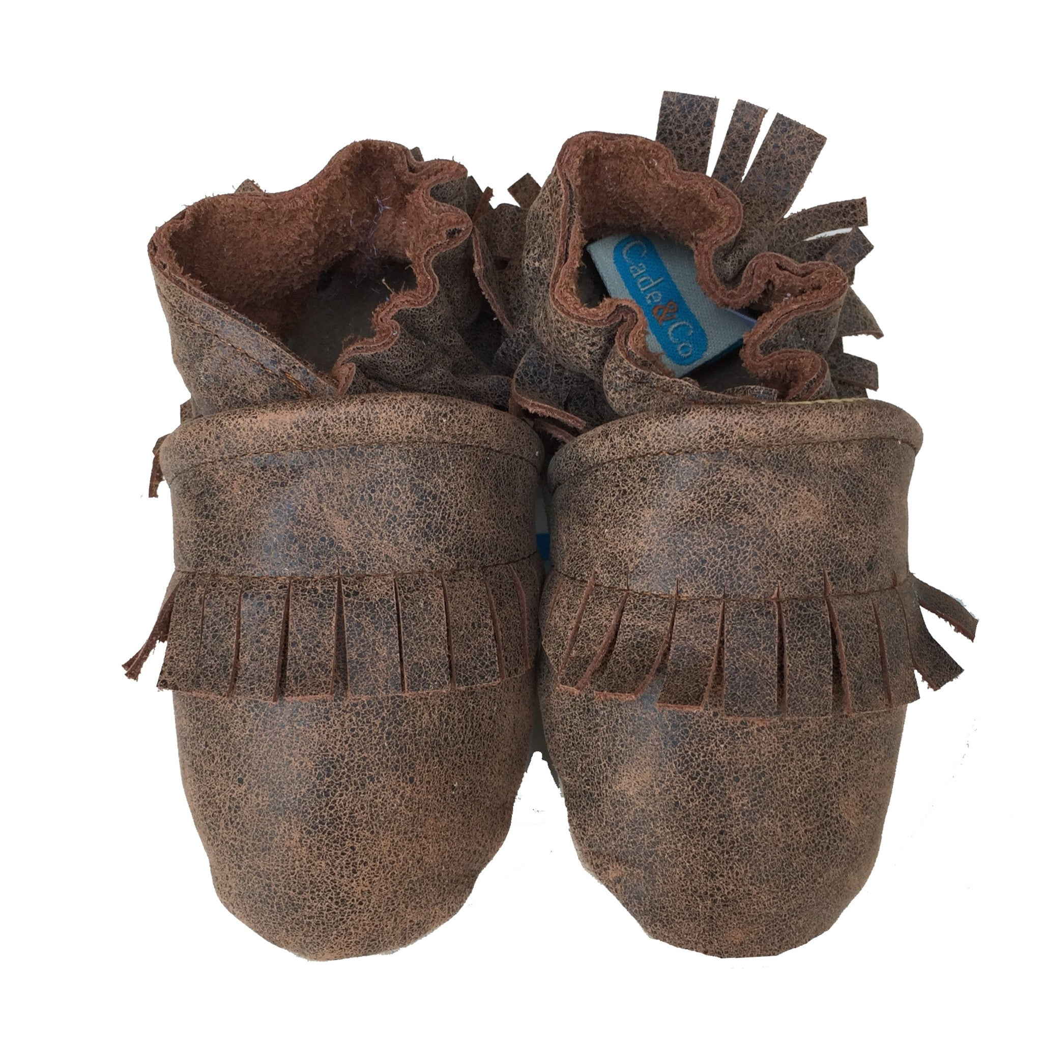 Fringe Mocs (distressed brown)