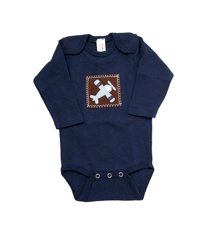 In-Flight Onesie (navy long-sleeve)
