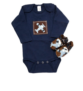In-Flight Gift Set (navy onesie and shoes)