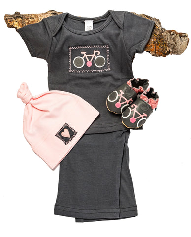 Le Tour Gift Set (dove grey with matching shoes, short sleeved top, pant, hat)