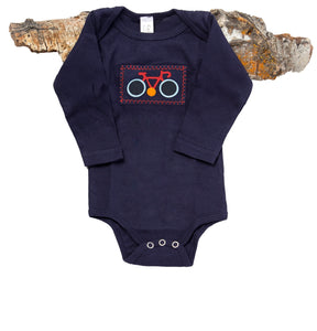 Le Tour Onesie (navy long-sleeve)