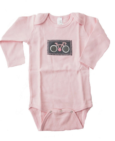 Le Tour Onesie (pink long-sleeve)