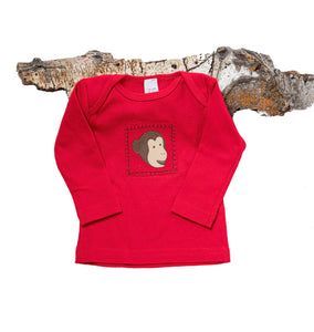 Monkey Business Tee (red long-sleeve)