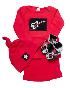 Rock Star Gift Set (red with matching shoes, top, pant, hat)