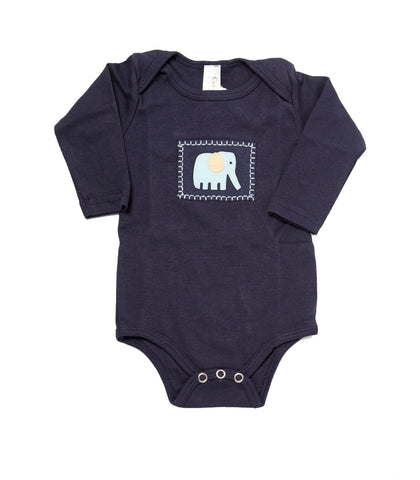 Safari Onesie (navy long-sleeve)