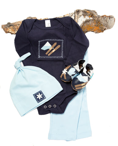 Ski Patrol Gift Set (navy with matching shoes, onesie, pant, hat)