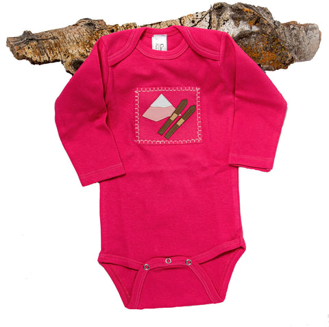 Ski Patrol Onesie (raspberry long-sleeve)