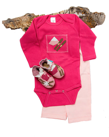 Ski Patrol Gift Set (pink onesie, pants and shoes)