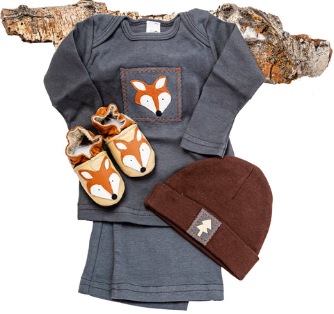Sly Fox Gift Set (grey with matching shoes, top, pant, hat)