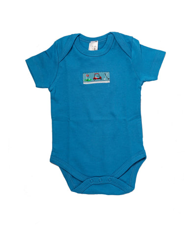 Tee-Time Onesie (true blue, short-sleeve)