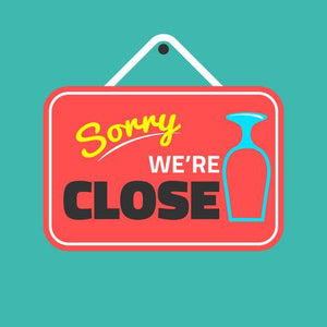 Shops Closed on Monday 9th September.