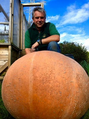 James Hocking and his pumpkins