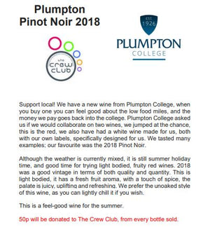 Wine for the weekend - Plumpton Pinot Noir