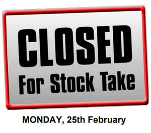 Annual stock take - 25.02.2019