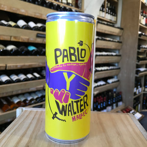 Pablo y Walter Malbec Nv Can 25cl - Butlers Wine Cellar Brighton