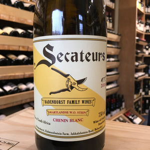 Secateurs AA Badenhorst Chenin Blanc 2018 - Butlers Wine Cellar Brighton