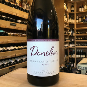 Donelan Kobler Family Vineyard Syrah 2013 - Butlers Wine Cellar Brighton