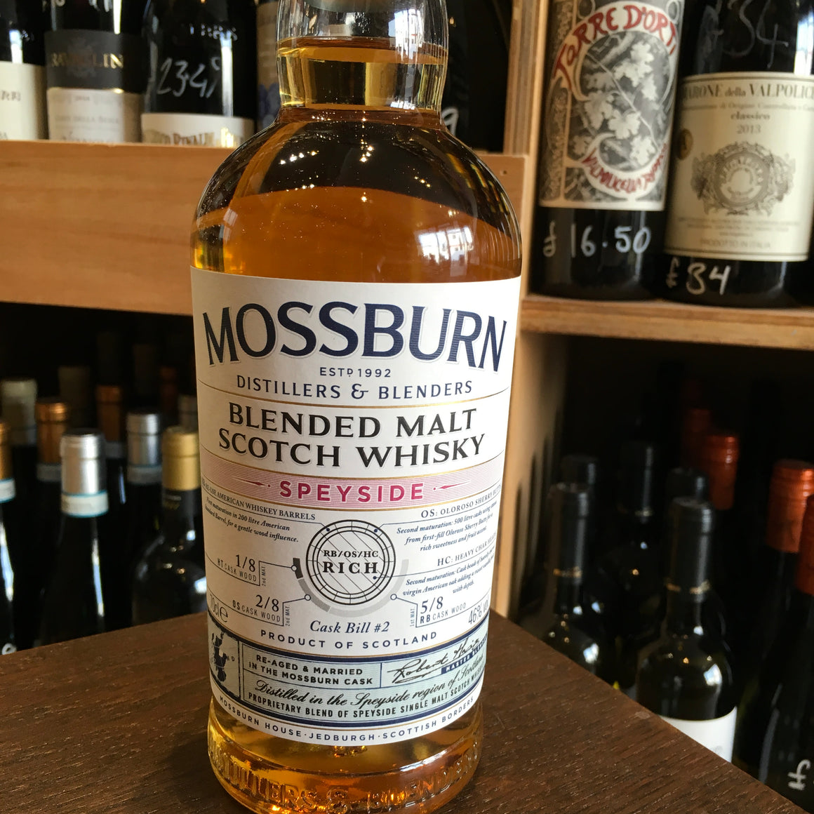 Mossburn Speyside Blended Malt Whisky 46% Abv - Butlers Wine Cellar Brighton
