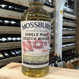 Mossburn No 1 Linkwood 10yr old Speyside Whisky 46% Abv