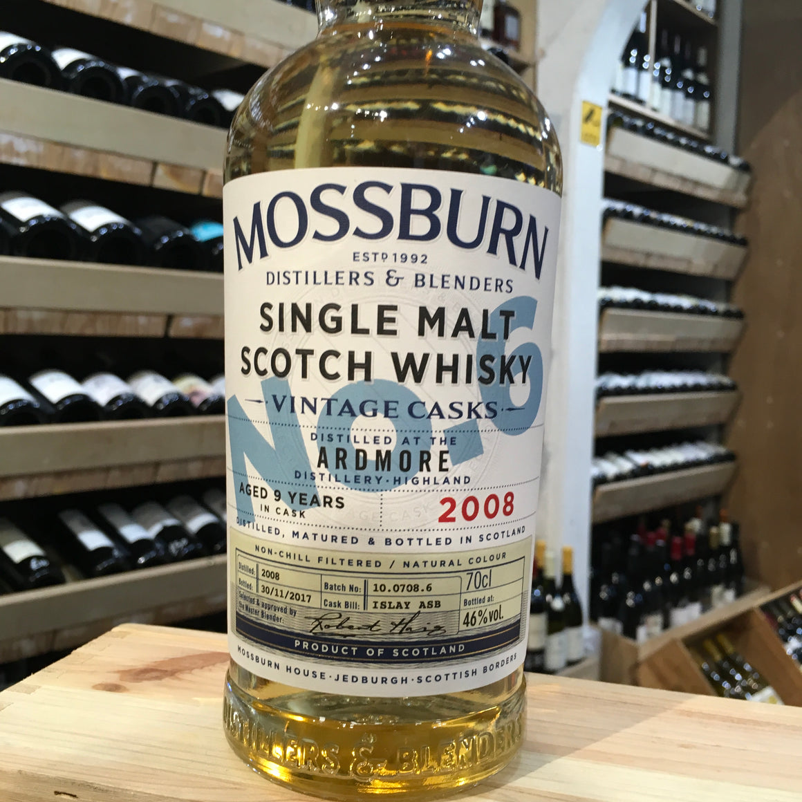 Mossburn No 6 Ardmore 9yr old Highland Whisky 48% Abv - Butlers Wine Cellar Brighton