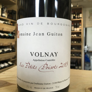 Volnay les Petits Poisots, Domaine Guiton 2013