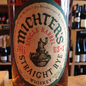 Michter's Number 1 Straight Rye 70cl 42.4% Abv - Butlers Wine Cellar Brighton