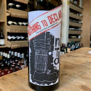 Blank Bottle Nothing to Declare 2018 - Butlers Wine Cellar Brighton