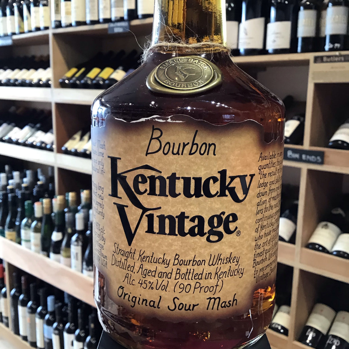 Kentucky Vintage Small Batch Bourbon Original Sour Mash 70cl 45% Abv - Butlers Wine Cellar Brighton