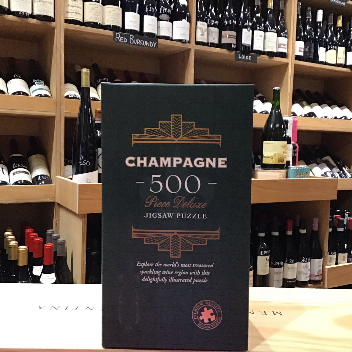 500 Piece Jigsaw - Champagne - Butlers Wine Cellar Brighton