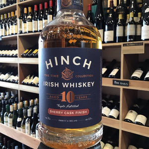 Hinch 10yr Old Sherry Cask Finish Irish Whiskey 70cl 43% Abv - Butlers Wine Cellar Brighton