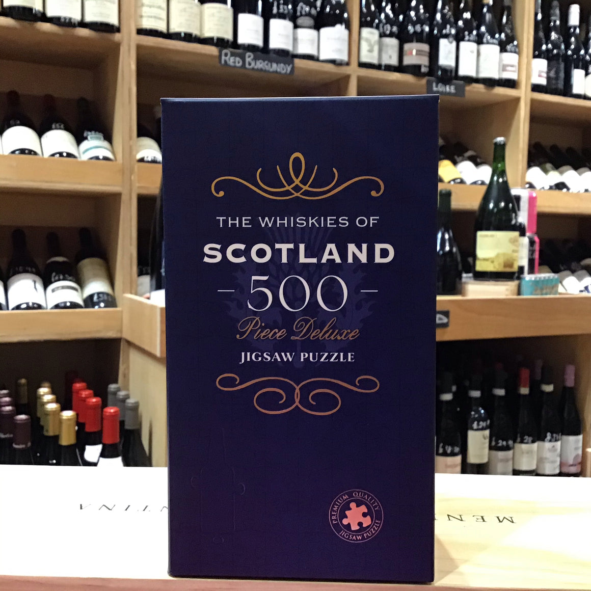 500 Piece Jigsaw - The Wiskies of Scotland - Butlers Wine Cellar Brighton