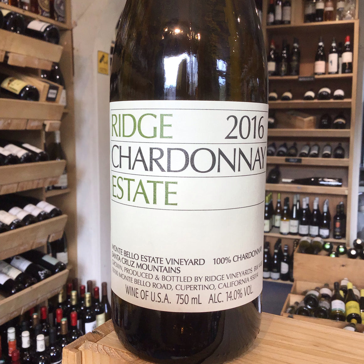 Ridge Chardonnay Estate, Santa Cruz Mountains 2016 - Butlers Wine Cellar Brighton