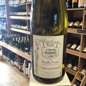 Pouilly Fume Arret Buffatte 2014 Tinel-Blondelet - Butlers Wine Cellar Brighton