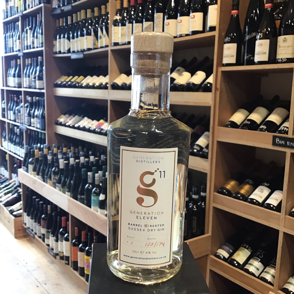 Generation 11 Barrel Rested Sussex Dry Gin 20cl 41%