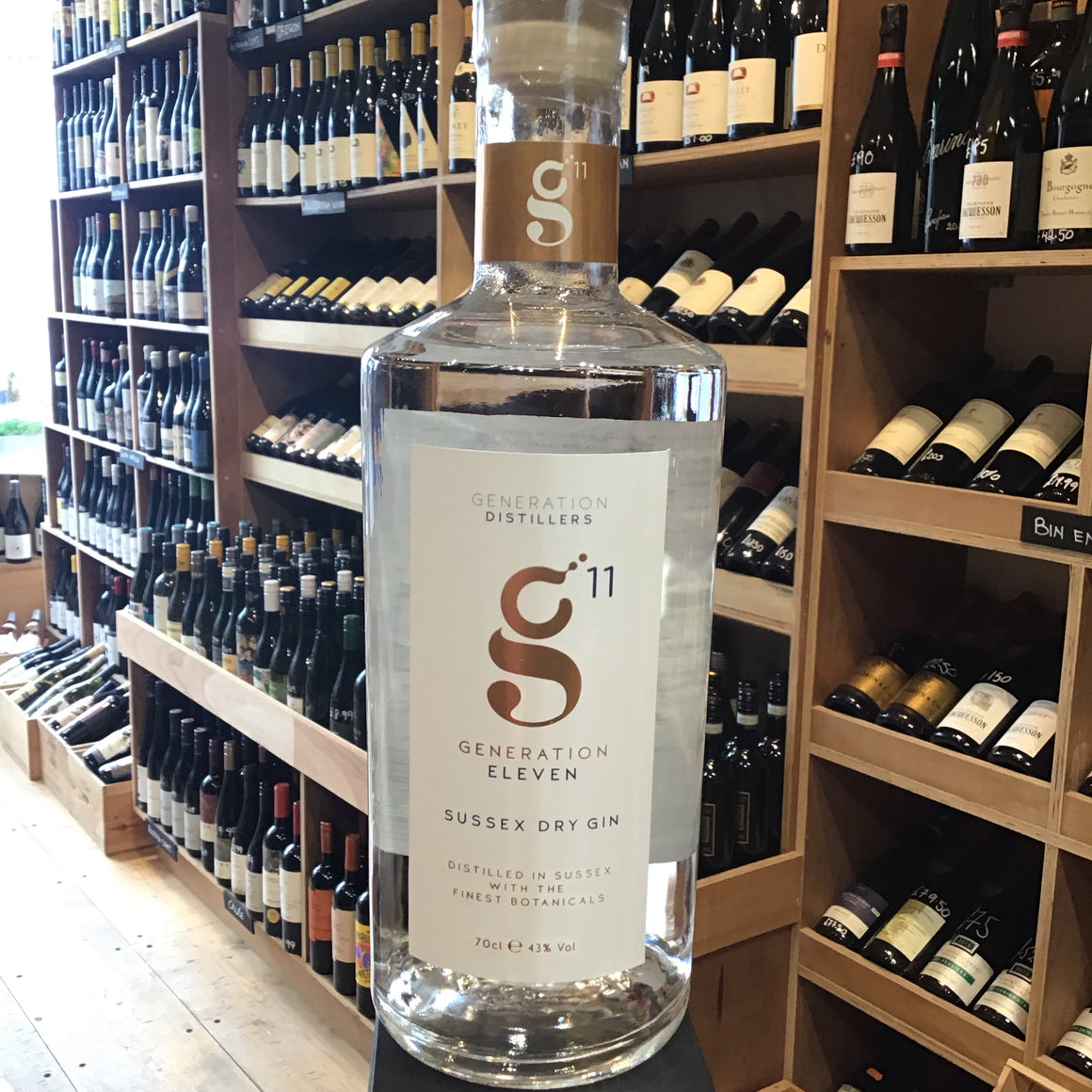 Generation 11 Sussex Dry Gin 70cl 43%