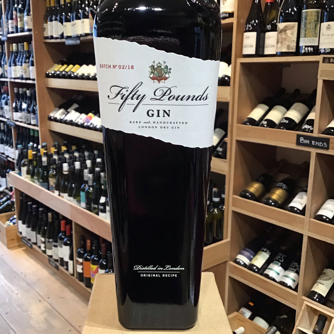 Fifty Pounds London Dry Gin 43.5% - Butlers Wine Cellar Brighton