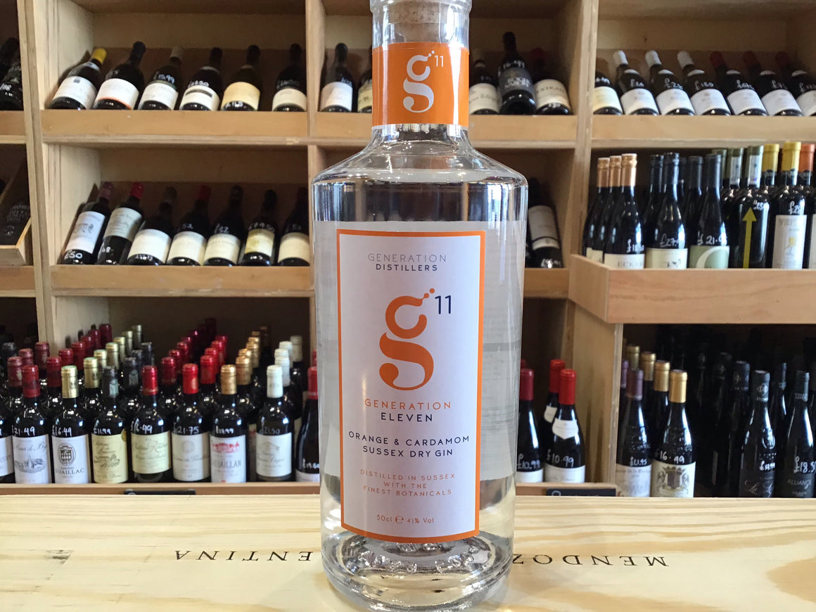 Generation 11 Orange & Cardamom Sussex Dry Gin 50cl 41% Abv - Butlers Wine Cellar Brighton