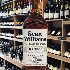Evans Williams Sour Mash Bourbon Bottled in Bond 70cl 50% Abv