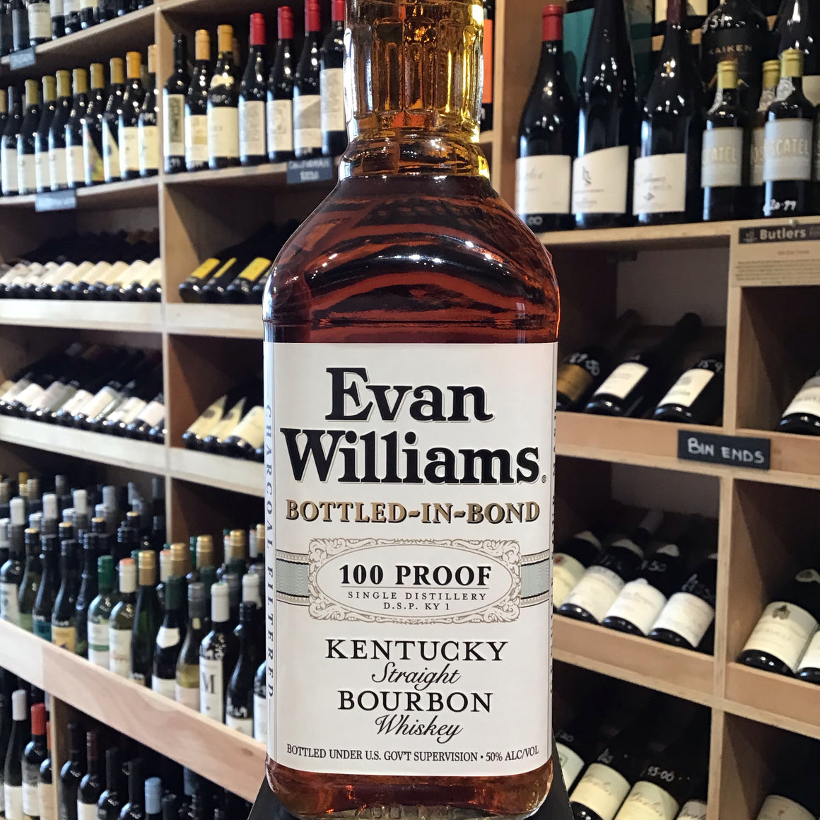 Evans Williams Sour Mash Bourbon Bottled in Bond 70cl 50% Abv - Butlers Wine Cellar Brighton