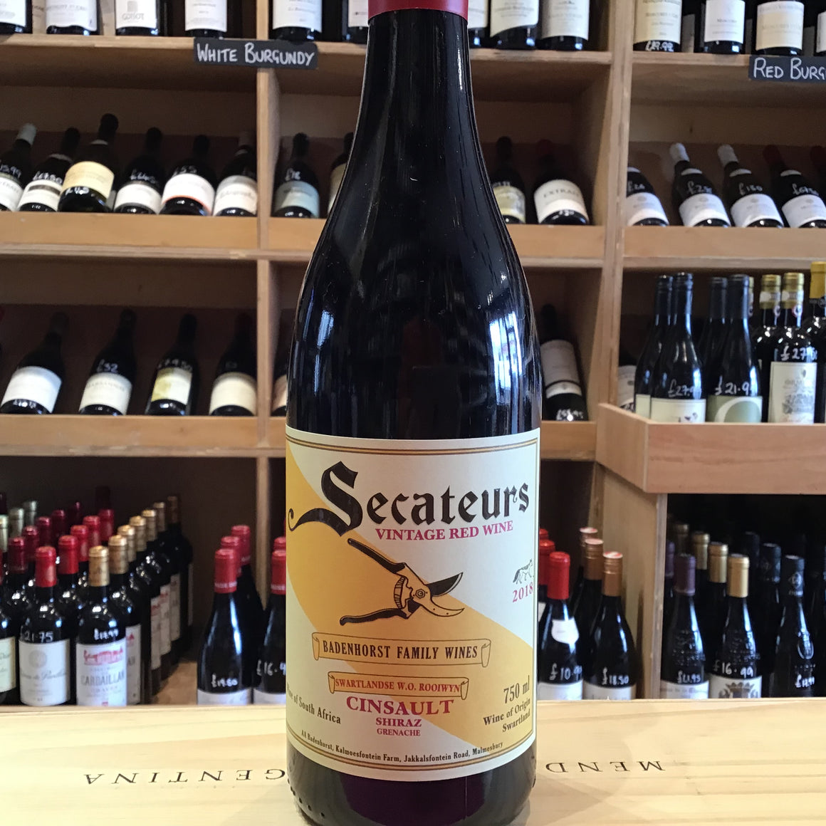 Secateurs Cinsault Shiraz Grenache Badenhorst 2018 - Butlers Wine Cellar Brighton