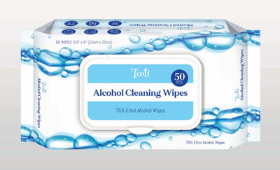Tooli - Alcohol Cleaning Wipes - 4 pack