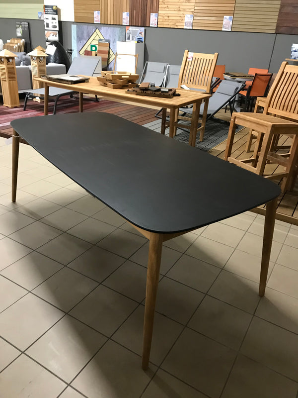 Table duranite noire + teck