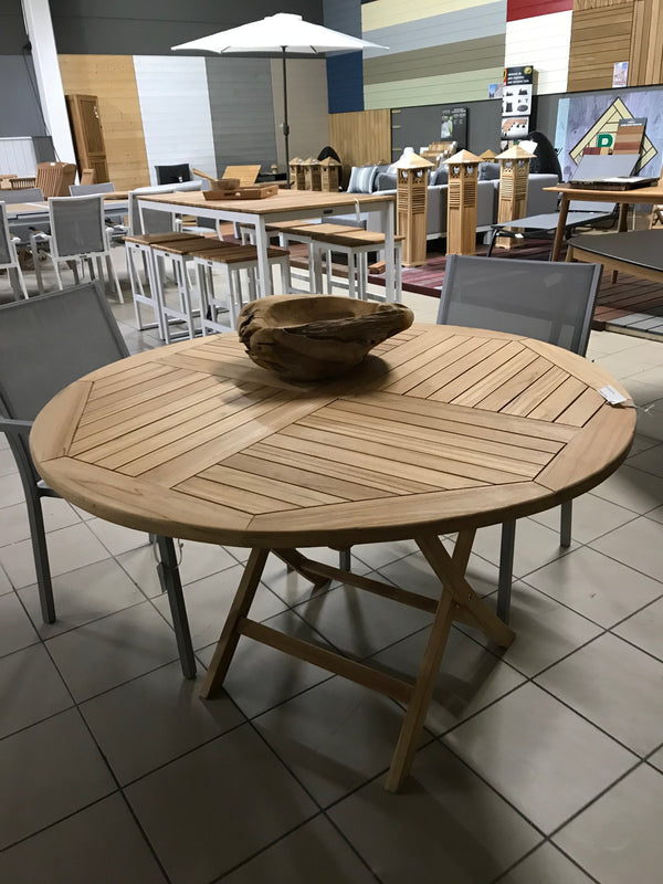 Table pliante ronde - Papillon