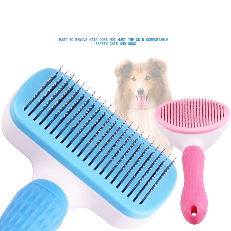 Pet Grooming Brushes Self-Cleaning Slicker Brush and Massage Brush for Dogs and Cats
