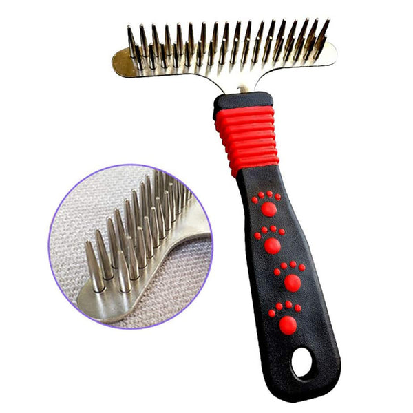 Deshedding Dematting Brush Pet Grooming Tool Undercoat Rake for Dogs, Cats, Rabbits