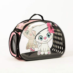 Transparent 3D Pet Carrier PortableTravel Bag for Small Dogs and Cats