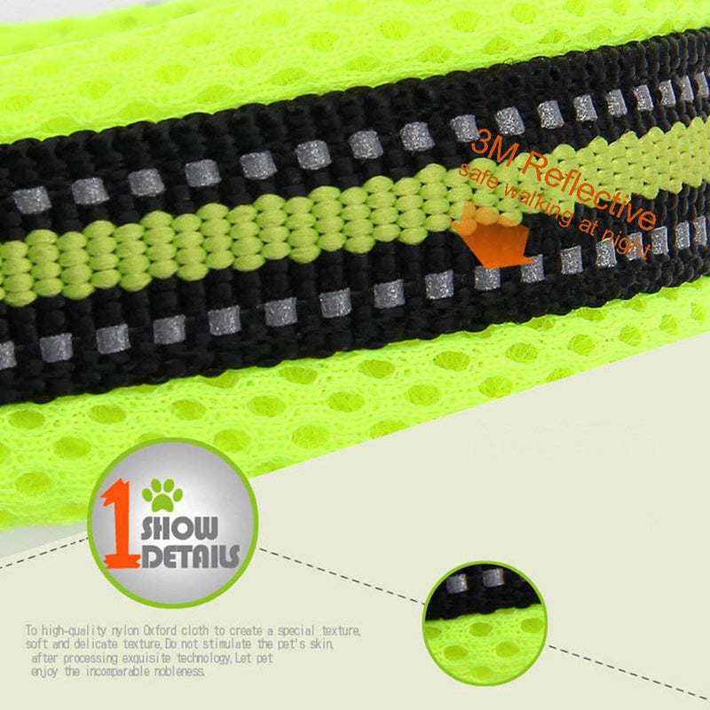 3M Reflective Mesh Padded Dog Collar Adjustable Nylon Outdoor Adventure Pet Collar