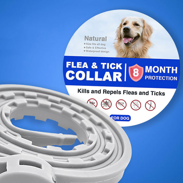 Pet Natural Oils Flea and Tick Collar for Dogs 8-Month Tick and Flea Control for Dogs